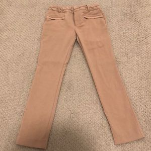 Zara tan work pants trousers
